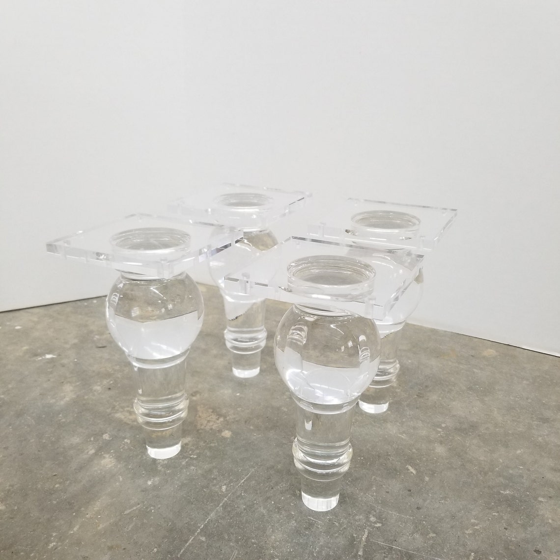 Total Glam! SET of 4 Acrylic Lucite furniture legs