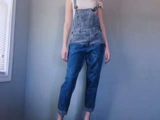 Vintage | Guess Georges Marciano two tone denim bib overalls