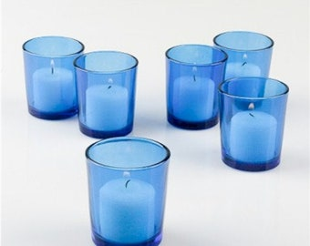 Blue Votive Candle Holders (Large)