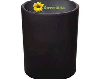 Black Frosted Votive Candle Holder