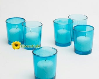 Turquoise Votive Candle Holders (Large)