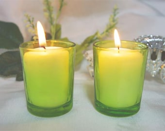 Apple Green Votive Candle Holders (Small)