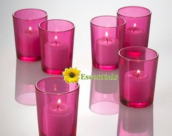 Pink Votive Candle Holders