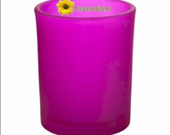 Fuschia Frosted Votive Candle Holder
