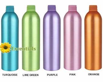Bouteille en aluminium de couleur assorties 8 onces - bouteille seulement - Pack de 5