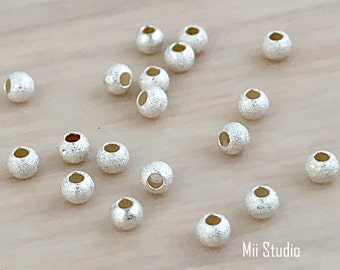 100pc 2.5mm  seamless 14k Yellow Gold Filled round shinybead spacer USA GS51