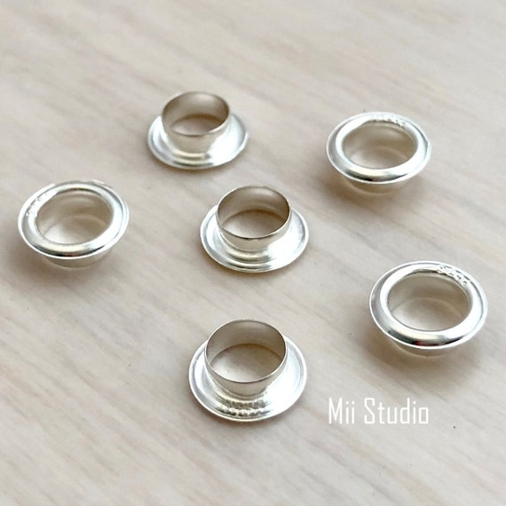 50pcs 4.7mm Hole bead Grommet Sterling Silver G05s
