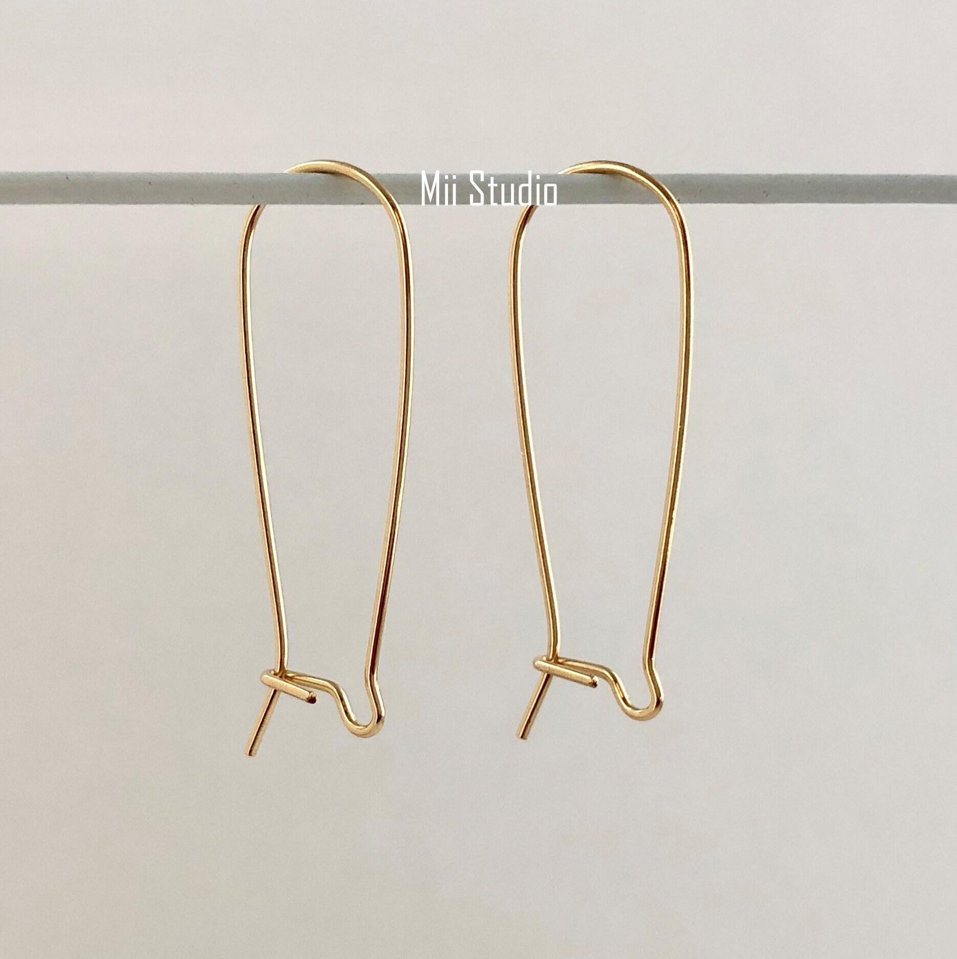 4 pcs wire 14k gold filled kidney earring ear wire pcs 35mm E03g 98f9c7