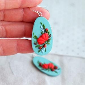 flower girl proposal porcelain earrings,wildflower svg,polymer clay flowers,botanical earrings,mindfulness gift floral svg Lemon earrings