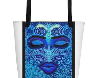 Beach Bag with art by Ariah Design