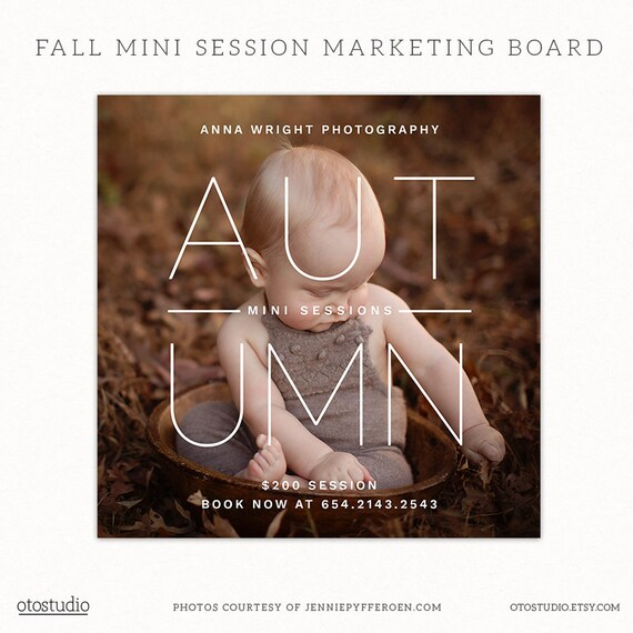 Fall Mini Session Template Instagram Photography Marketing Etsy