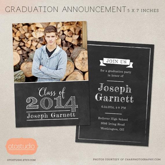 senior graduation announcement template for photographers etsy