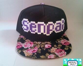 849bef37e39 8-Bit Senpai Snapback