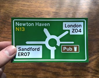 Cornetto Trilogy Road Sign - Shaun of the Dead, Hot Fuzz, The Worlds End - Vinyl Sticker