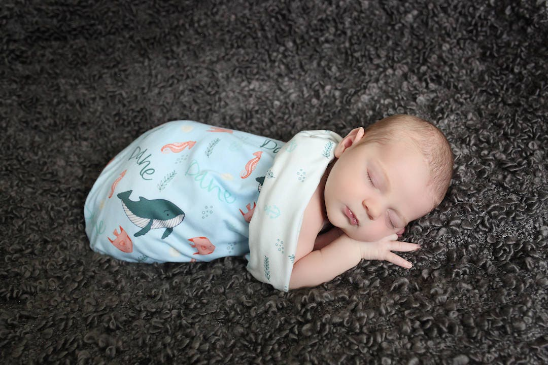 Personalized Swaddle Blanket // Marine // Gifts for Baby ...