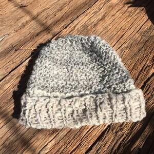 Jacob/'s wool Hand spun Beanie