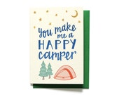 Funny Anniversary Card - Love Card - Happy Camper - Anniversary Card - Camping Card - LV11