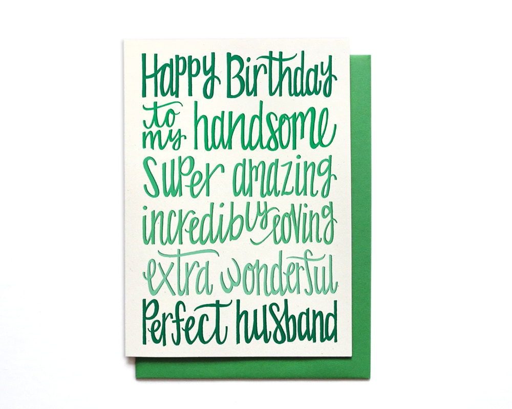 Husband Birthday Card Happy To My Handsome