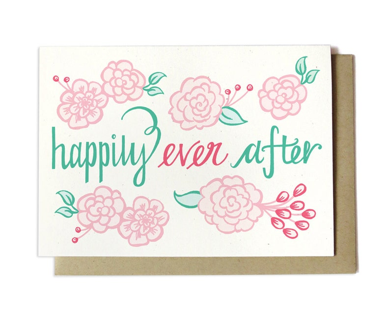 Wedding Card  Happily Ever After  Spring Wedding  Summer image 0