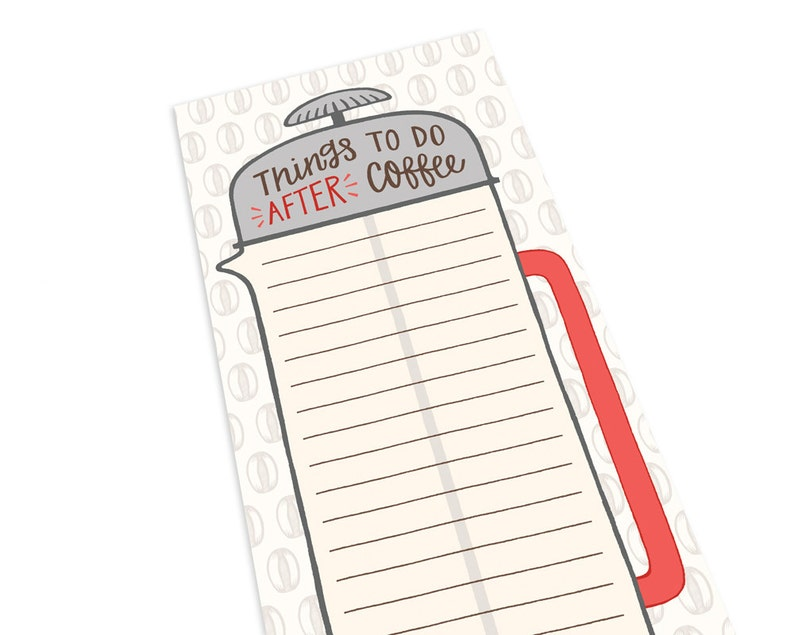 Coffee Notepad  To Do List  Desk Notepad  To Do Notepad  image 0
