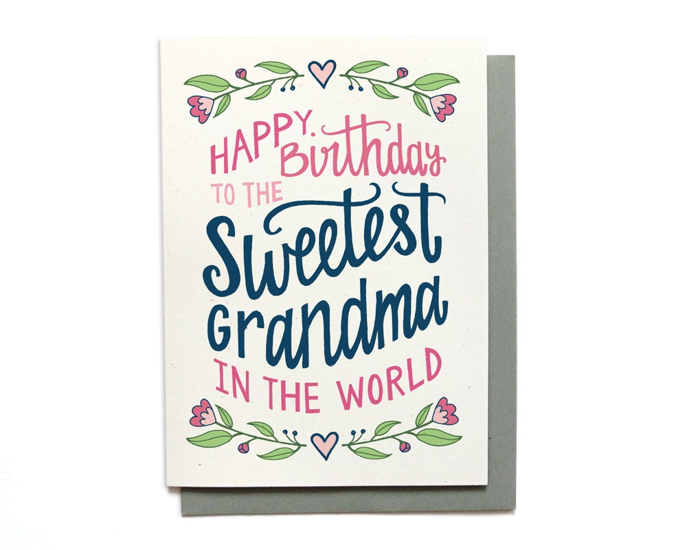 Grandma Birthday Card Sweetest In The World