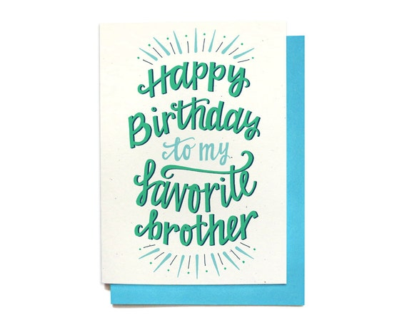 Brother Birthday Card Happy To My Favorite