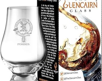Clan Forbes Scotch Malt Whisky Glencairn Tasting Glass