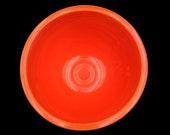 Vintage FIESTA Bowl Fiestaware Bowl Fiesta Mixing Bowl Fiesta Nesting Bowl Number7 7 Radioactive Red Mixing Bowl Collectible With RINGS