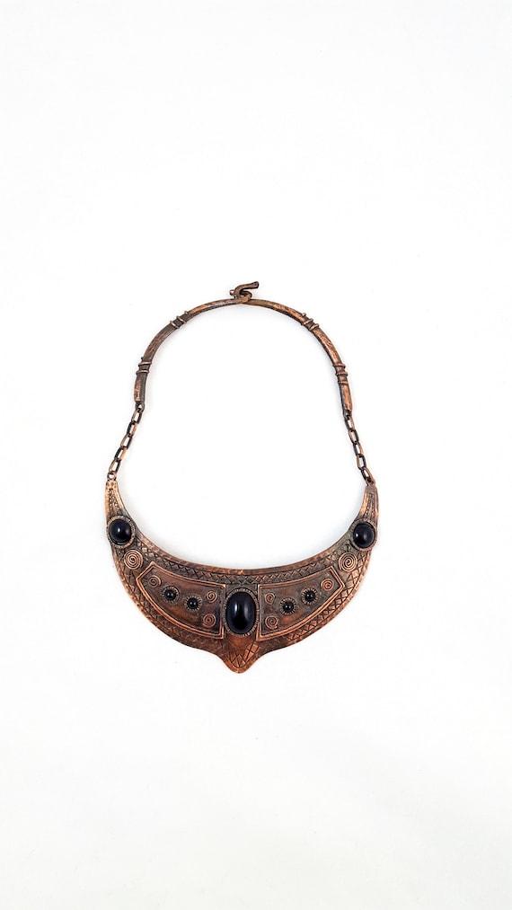 Vintage CADORO Necklace BRUTALIST Copper Necklace