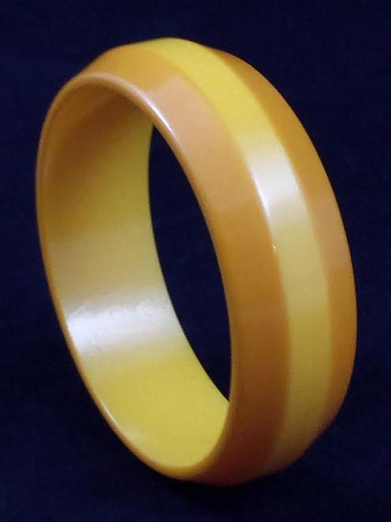 Vintage Orange and Yellow Bakelite Bangle
