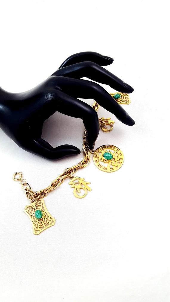 Vintage HATTIE CARNEGIE Asian Bracelet Hattie Carn