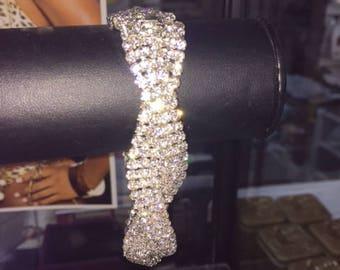b0ac84d6a44 NEW Crystal Rhinestone Stunning sparkle Bracelet 8