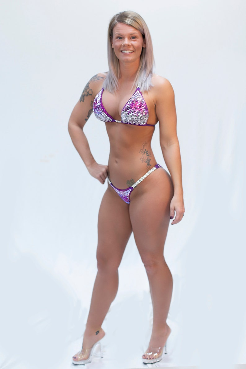d5f59a007fe Competition bikinis Purple Ombre Bikini suit Contest Bikinis   Etsy