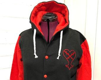 Heartless Kingdom Hearts Inspired Hoodie Sweatshirt Video Game Jacket