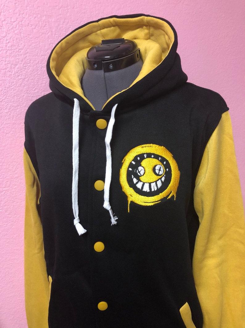Junkrat Overwatch inspired Varsity Hoodie Jacket image 0