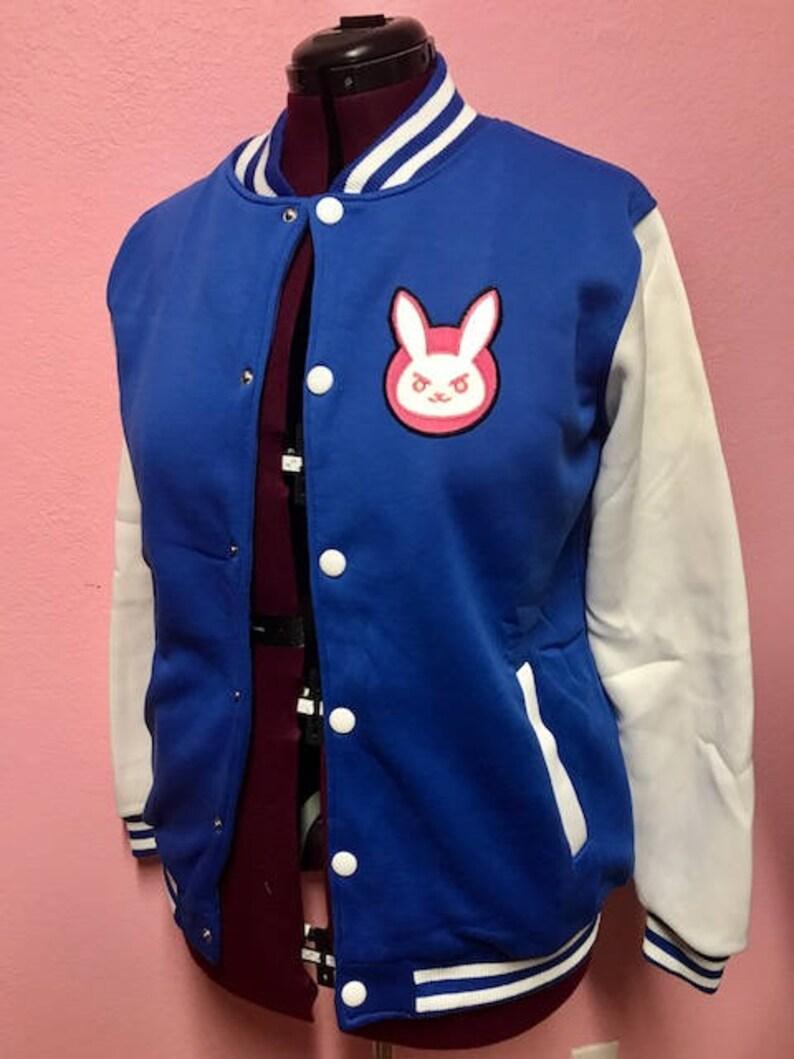 D Va Overwatch inspired Varsity Jacket