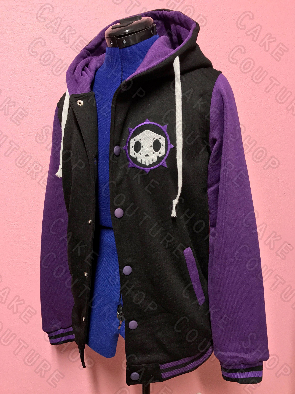 e9ada3bfa6e Sombra Overwatch Inspired Varsity Hoodie Jacket