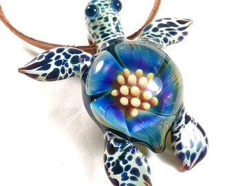 Choose Color 4 turtles Frosted Glass Bead Sea Glass Turtle 23mm Sea Glass Turtle Pendant Jewelry Making Supply Beach Glass Beads