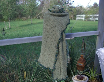 hand made one of a kind baby alpaca wrap, shawl, scarf