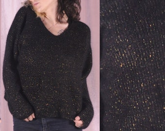 49910e4d6 Vintage Black Angora Wool Sweater - The softest black sweater