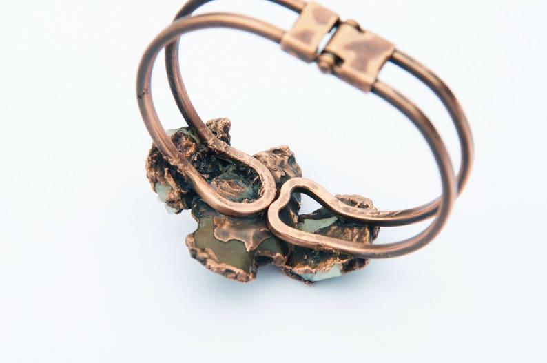 Arrowhead Cuff Bracelet Rustic Quartz Copper Bowie AZ OOAK Me and my Arrow