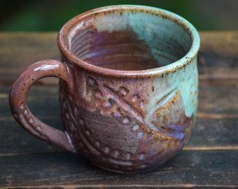one of a kind stoneware mug