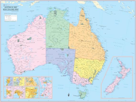 Large Australia map - Large map of Australia (Australia and ...