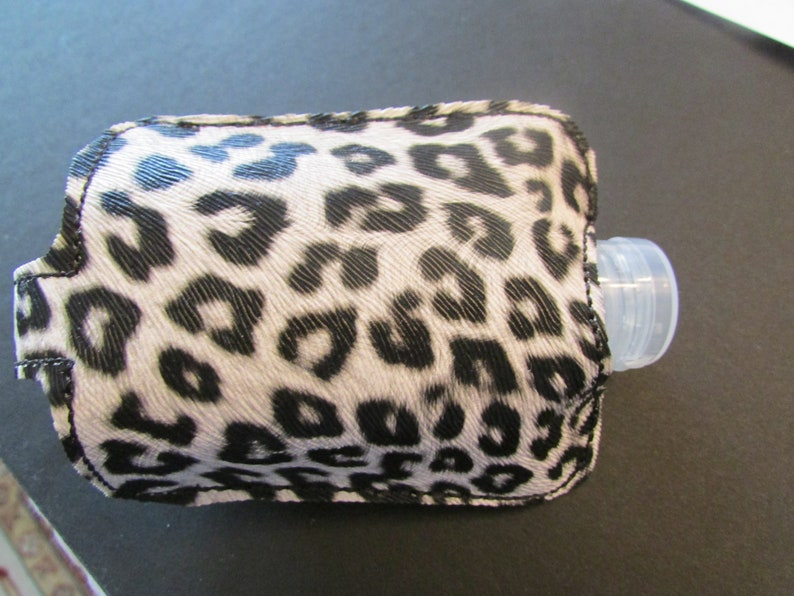 2 oz Faux Vegan Leather Leopard Handmade Embroidered FOB