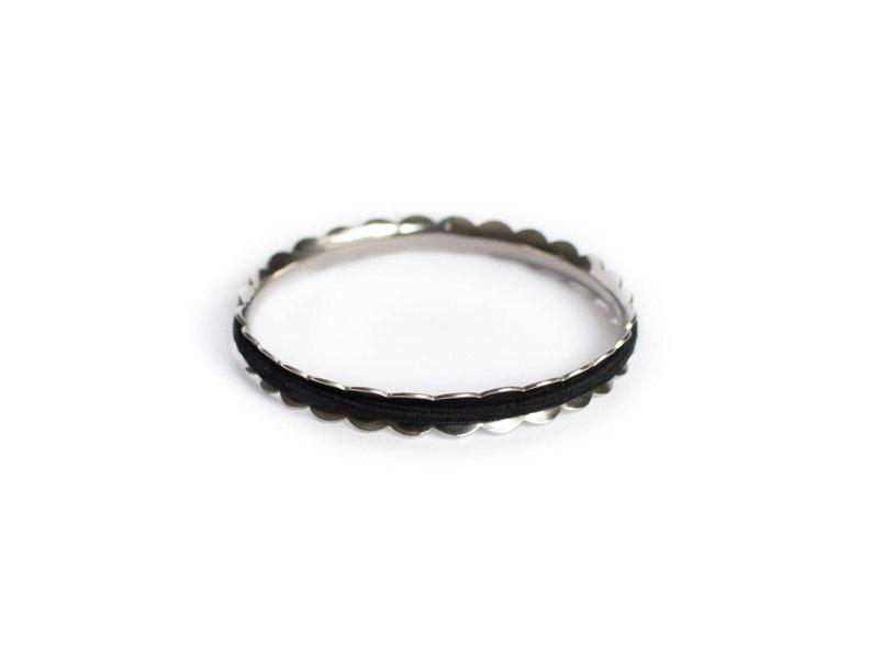 LAUREL Hair Tie Bracelet Bangle Made From Hypoallergenic image 0