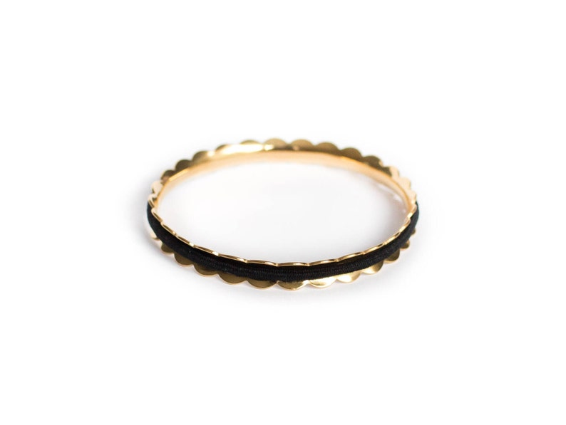 LAUREL Hair Tie Bracelet Bangle Made From Hypoallergenic image 0