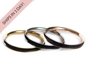 BASIC Hair Tie Bracelet Bangle in Stainless Steel Silver, Gold, or Rose Gold, Hair Tie Holder, Stocking Stuffer Wedding Bridesmaid Gift Set