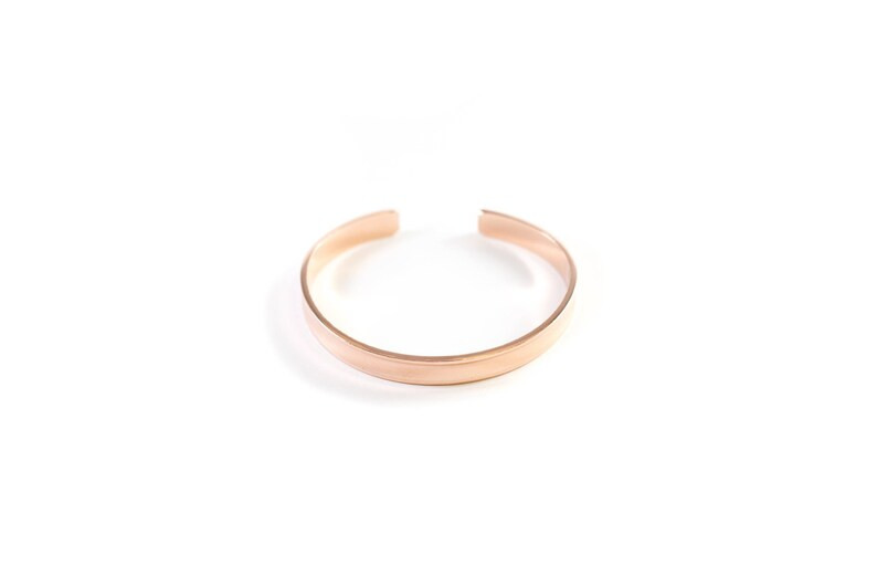 CLASSIC Bracelet Cuff in ROSE GOLD stainless steel or brass image 0