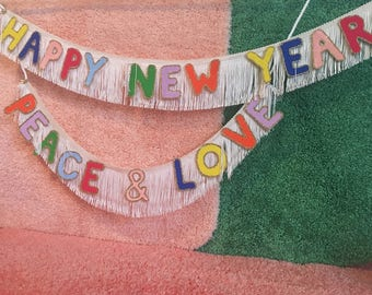 Happy New Year Fringe Banner | new year's party banner, new year's eve party, happy new year sign, holiday party decor, new year's decor