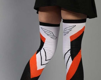 4051580b7 Overwatch Mercy Wings Casual Cosplay Gamer Gaming Thigh High Socks Accessory